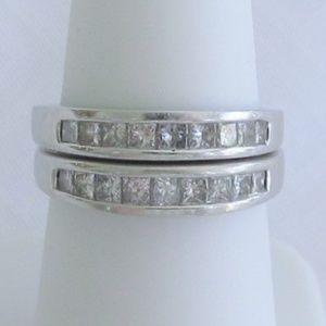 1/2 Carat diamond wedding band 14k white gold!